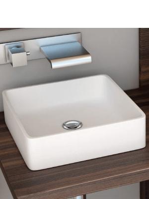Lavabo Solid Surface rectangular Essenza 368 x 368 x 127 cm blanco   Adrihosan