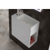 Lavabo Solid Surface rectangular Jazz 20x40x40 cm blanco