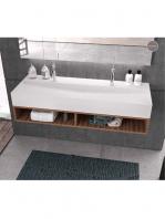 Lavabo Solid Surface rectangular New Irion 1210x460x150 cm | Adrihosan