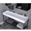 Lavabo Solid Surface rectangular quarter Irion 810-1010x450x15 cm blanco