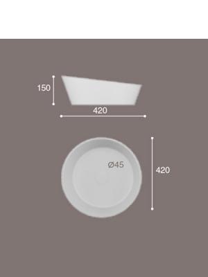 Lavabo Solid Surface redondo Arena 45x15 cm cm blanco   Adrihosan