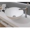 Lavabo Solid Surface tipo bol D40x15 cm blanco | Adrihosan