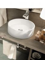 Lavabo solid surface circular Fonte Ø 395 x 150 cm blanco