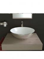 Lavabo cerámico Tipo bol bicolor D400 x 150 cm blanco - plata | Adrihosan
