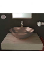 Lavabo cerámico Tipo bol D400 x 150 cm bronce | Adrihosan