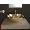 Lavabo cerámico Tipo bol D400 x 150 cm oro | Adrihosan