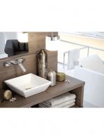 Lavabo cerámico cuadrado Rodas 420 x 420 x 120 cm blanco | Adrihosan