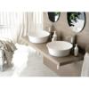 Lavabo cerámico extrafino circular Ajax D420 x 125 cm blanco | Adrihosan