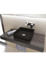 Lavabo cerámico extrafino cuadrado Satet 365 x 365 x 115 cm blanco o negro mate | Adrihosan