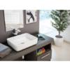 Lavabo cerámico extrafino rectangular Iris 500 x 400 x 135 cm blanco | Adrihosan
