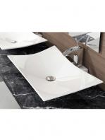 Lavabo cerámico rectangular Europa (Magdalena) 560x420x110cm blanco | Adrihosan