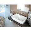 Lavabo cerámico rectangular Keops 580 x 370 x 130 cm blanco | Adrihosan