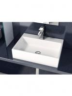 Lavabo cerámico rectangular Leo 500 x 350 x 120 cm blanco | Adrihosan