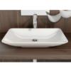 Lavabo cerámico rectangular Nova 590 x 365 x 100 cm blanco | Adrihosan