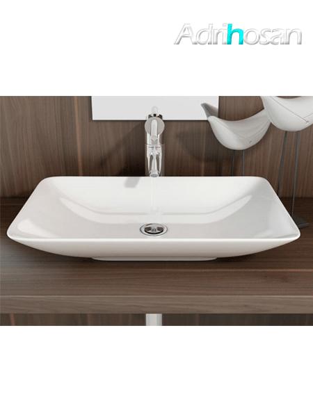 Lavabo cerámico rectangular Nova 590 x 365 x 100 cm blanco