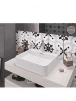 Lavabo cerámico rectangular Sil 500 x 420 x 130 cm blanco | Adrihosan