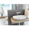 Lavabo cerámico rectangular Arcam 600 x 380 x 120 cm blanco   Adrihosan