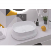 Lavabo cerámico rectangular Cinca 570 x 420 x 150 cm blanco | Adrihosan