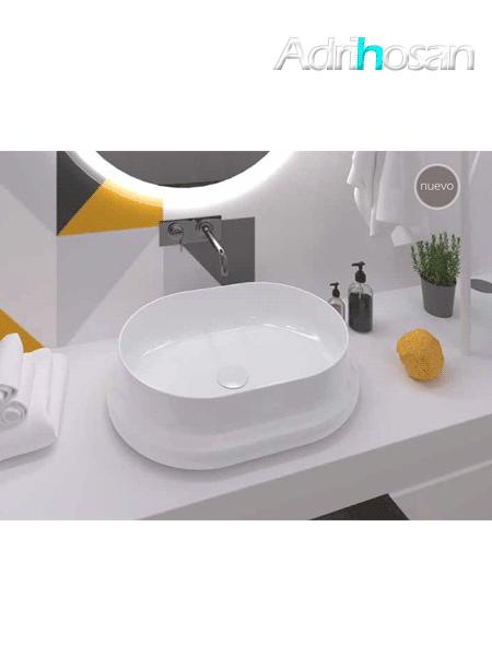Lavabo cerámico rectangular Cinca 570 x 420 x 150 cm blanco