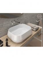 Lavabo cerámico rectangular Esca 560 x 420 x 145 cm blanco | Adrihosan