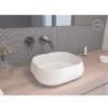 Lavabo cerámico rectangular Lena 450 x 400 x 145 cm blanco | Adrihosan