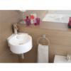 Lavabo suspendido cerámico circular Dasha 310 x 430 x 125 cm blanco | Adrihosan