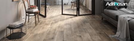Pavimento porcelánico rectificado Wonder 19,7x120 cm imitación madera.   Adrihosan