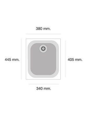 Fregadero de fibra Gandía 162 brillo bajo o sobre encimera Poalgi