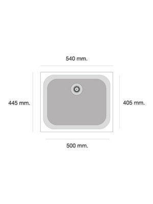 Fregadero de fibra Gandía 164 brillo bajo o sobre encimera Poalgi Albero