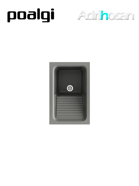Lavadero exterior sintético Silex 117 brillo sobre encimera Poalgi