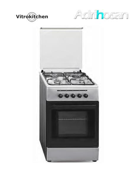 Cocina de gas Elegance Inox 50x55 cm CB55 Gas butano o natural Vitrokitchen