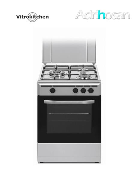 Cocina de gas Elegance inox. 50x55 cm CB553 Gas butano o natural Vitrokitchen