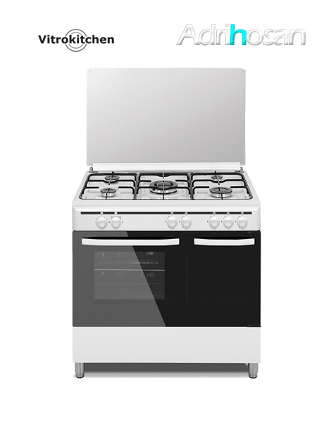 Cocina de gas Elegance blanca 90x60 cm CB96PB Gas butano Vitrokitchen