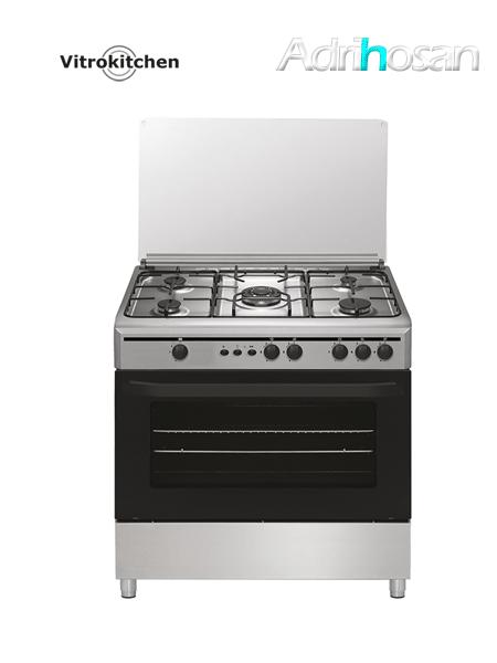 Cocina de gas Elegance inoxidable 90x60 cm CB96PI Gas butano o natural  Vitrokitchen