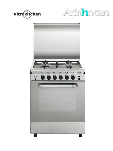 Cocina de gas Unica Inox cristal 50x55 cm UN55I Gas butano o natural Vitrokitchen
