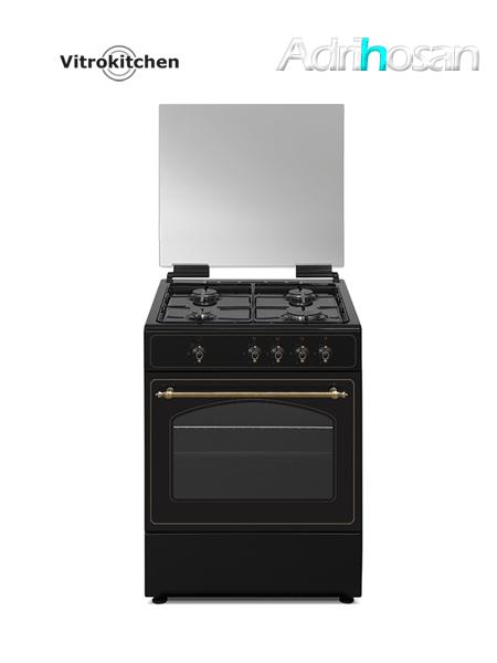 Cocina Rústica de gas 60x60 cm RU6060 Gas butano o natural Vitrokitchen