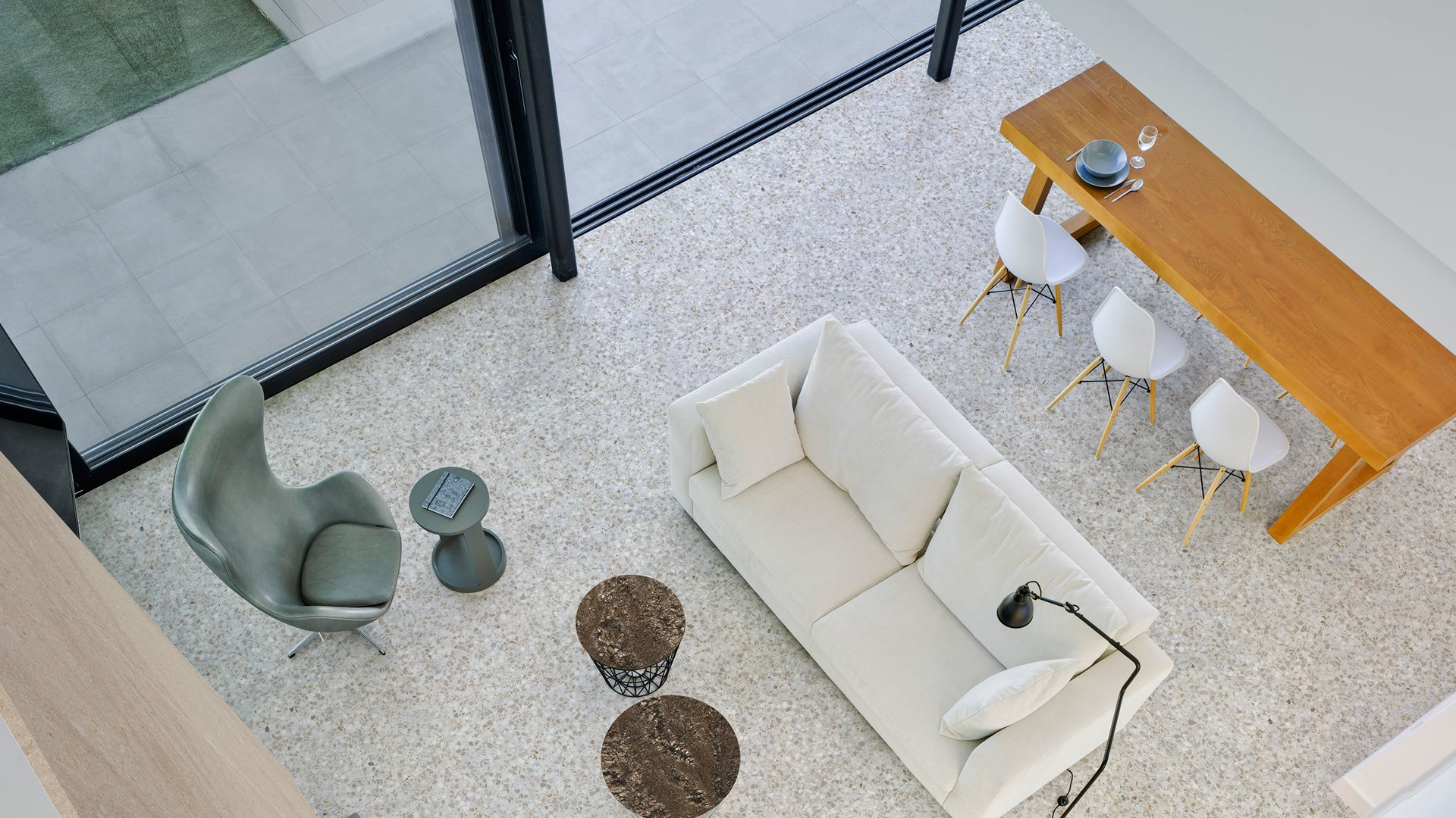 Lámina porcelánica gran formato poco espesor Techlam Deco Collection