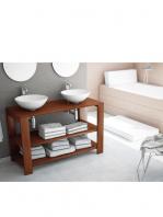 Mueble de baño madera maciza Nogal Cedar (500-1200 x 450 cm)