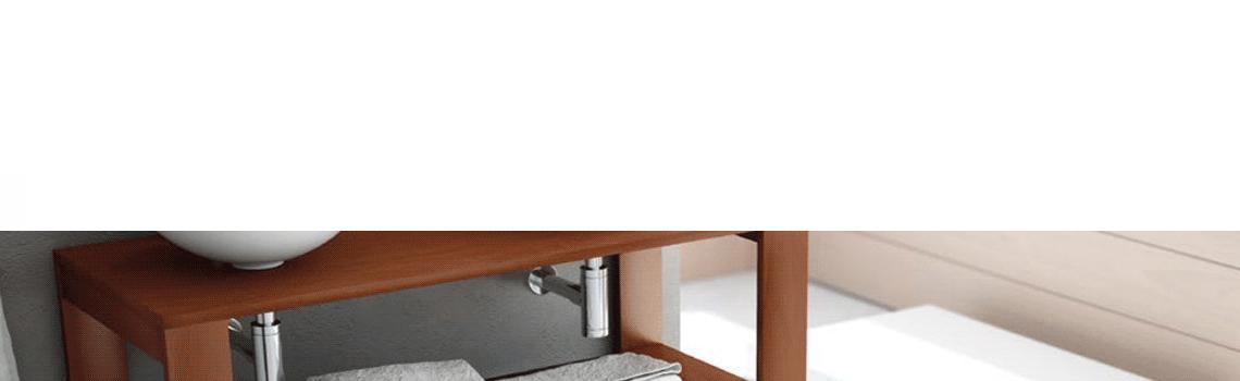 Mueble de baño madera maciza Nogal Cedar (500-1200 x 450 cm) | Adrihosan