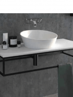 Mueble de baño metálico suspendido negro corfu 800x450x175   Adrihosan