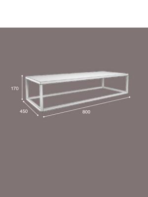 Mueble de baño metálico suspendido negro corfu 800x450x175 | Adrihosan