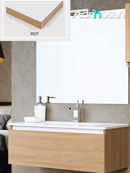 Mueble de baño suspendido 1 cajón Suite 80 cm (mueble + lavabo + espejo)