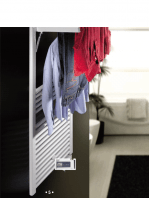 Radiador para calefacción central (agua) Mobile en blanco o negro