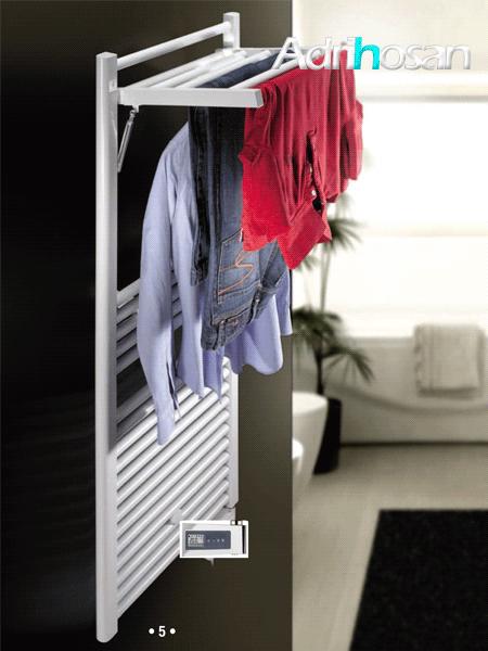Radiador para calefacción central (agua) Mobile en blanco o negro.