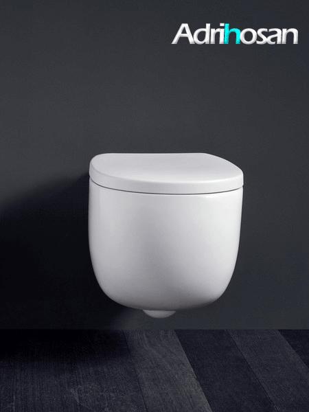 Inodoro suspendido italiano Milk blanco 52x34,5x28,5h cm NIC design