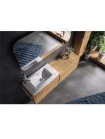 Lavabo cerámico rectangular SONIM 700 x 360 x 100 cm blanco