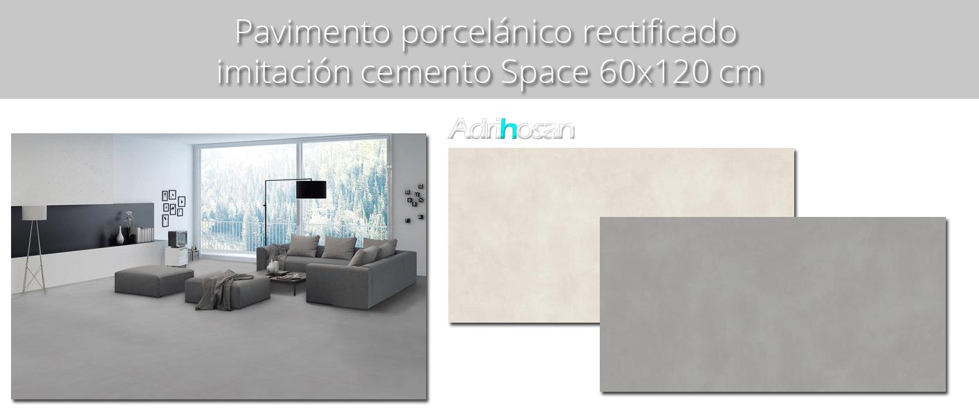 Pavimento porcelánico rectificado Space 60x120 cm