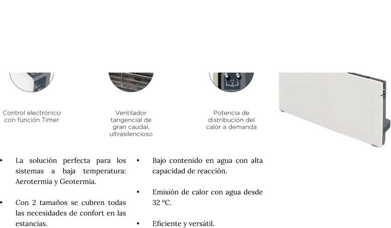 Radiador agua DK Hybrid Adaptativo (especial aerotermia) 50 x 54 x 12 cm. Dual Kherr | Adrihosan