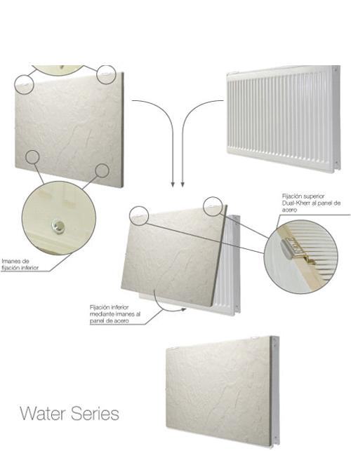 Radiador agua Toallero DK11 H2O 50x50 ó 50x100 cm tecnología Dual Kherr | Adrihosan