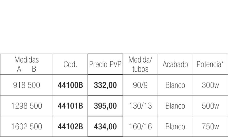 Radiador secatoallas eléctrico Hache en blanco | Adrihosan